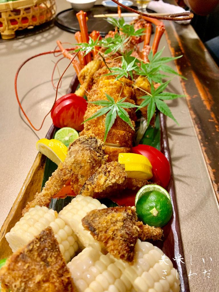 北新地「播磨屋・龍泉堂」の伊勢海老フライが美味しい美味しすぎる