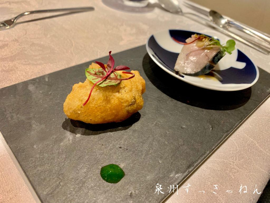 岸和田市にあるオゼのランチ前菜