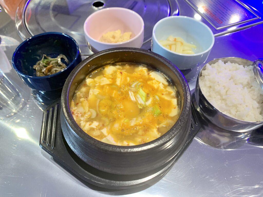 岸和田市にある韓国料理KOREANAのスンドゥブ。